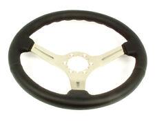 1969-1982 Corvette Steering Wheel Black Leather Steering Brushed 3 Spoke