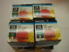 PHILIPS 4X BOMBILLAS VERDES PARTYTONE P45 15W E27