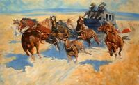 """high quality 36x24 oil painting handpainted on canvas """"conflict""""N9299"""