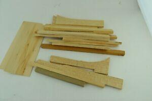 Vintage 2.5mm Thick Wood Plank Scrap Slab Parts Kitbashing Lot Square Plates