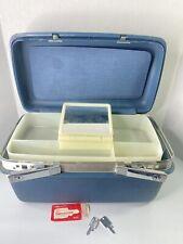 VTG Samsonite Travel Case Luggage Train Case with Insert Mirror Original 2 Keys
