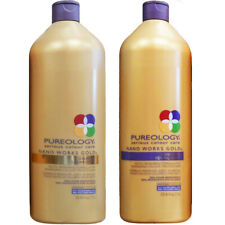 Pureology Nano Works GOLD Shampoo and Conditioner Liter Duo Set (33.8 OZ each)