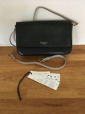 Radley Small Black Leather Cross Body/Shoulder/Hand Bag