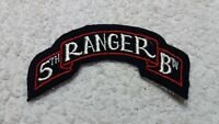 WW2 US Army 5th Ranger Battalion SSI Felt Scroll Patch Cheesecloth Back No Glow