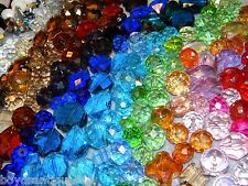 New 100 Glass faceted Rondelle Jesse James beads 6-20mm mixture RANDOM pick