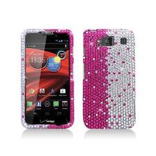 Hot Pink Silver Diamond Snap-On Hard Case for Motorola Droid Razr Maxx Hd xt926M