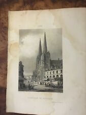 Gravure - Cathédrale de BORDEAUX Dpt Gironde - Librairie de Firmin Didot à PARIS