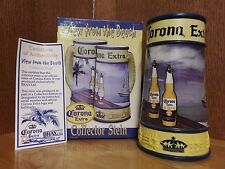 """*New in Box* Corona Ceramic Beer Stein-Collector's Edition """"View from the Beach"""""""
