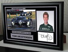 More details for tom kristensen signed le mans framed tribute