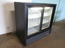 """True"" Commercial Glass Door Refrigerated Low Profile Cold Beverage Merchandiser"