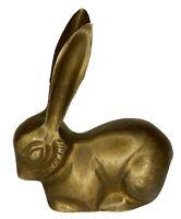 Rabbit Statue Sculpture Old Handmade Brass Animal Figure Figurine Home Decor