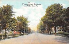 Dorranceton Pennsylvania~Wyoming Avenue Homes~Trolley Tracks~1908 Postcard