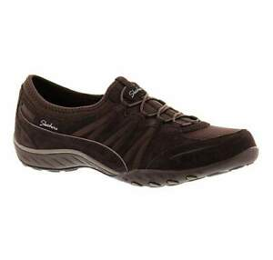 Skechers Womens Chocolate Brown Breathe Easy Moneybags Trainers