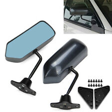2 X Adjustable F1 Style Car Side Rearview Mirrors Carbon Fiber Color Blue Mirror