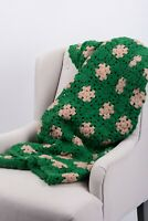 Handmade Blanket Throw Afghan Crochet Blanket Quilt Granny Square 59''x 54''