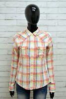 Camicia HOLLISTER Donna Taglia Size M Maglia Blusa Shirt Woman Cotone a Quadri