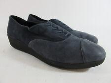 FitFlop F Pop Opul Blue Suede Oxford Shoe Women's Size 8.5/40