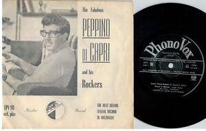PEPPINO DI CAPRI and his ROCKERS The Fabulous EP 45rpm 7' PS 1960 EX AUSTRALIA