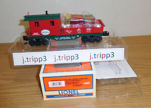 LIONEL 36529 CHRISTMAS NORTH POLE CENTRAL NPC WORK RED CABOOSE O GAUGE TOY TRAIN