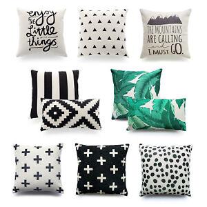 Hofdeco Cushion Cover HEAVY WEIGHT Modern Tropical Banana Palm Leaf Geometric