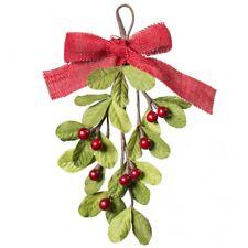 Mistletoe with Red Berries Artificial Teardrop Shape