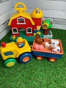 Farmyard Set Tractor Animals Farm Sounds and Movement Learning Grow Play