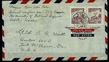 Korea Stamps:1962 Air Mail Cover  to Fort McPherson, Georgia