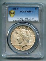 1935 S Peace Silver Dollar PCGS MS 64
