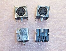 QTY (40) 749181-1 TYCO 4 PIN R/A MINI DIN RECEPTACLE SHIELDED NOS 1 TUBE