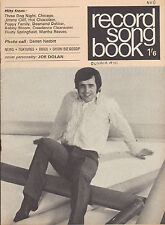 Joe Dolan on Record Song Book Magazine Cover October 1970      Shirley Bassey