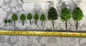 Z Scale   Set Of 10 Trees , Forest, Foliage, Scenery, Multiple Styles CKD25