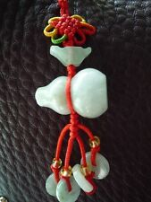 Feng Shui Wu Lou / Gourd Hanging Jade Good Health and Good Luck Small