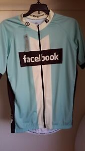 Panache Facebook Cycling Team Jersey Size XL Blue/White/Black Made in Italy NWT