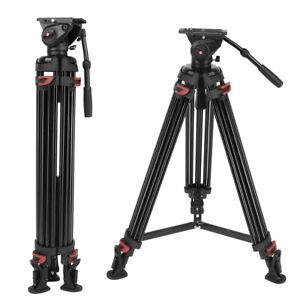 XTK-8018 Professional DV Video Camera Tripod 1.8m with Fluid Pan Head Kit