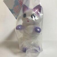 Konatsuya NEGORA FLUFFY White Pearl sofubi figure Konatsu shibara Cat Japan F/S