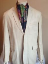 DKNY gents leather jacket. White. Size L. style blazer. Tailored.
