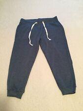 Blue  Knee Lenths Sweatpants L