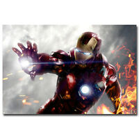 "The Avengers Movie 1 2  Iron Man Art Wall Cloth Poster  36x24/"" Print 504"