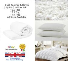 Luxury Hotel Quality Duck Feather & Down Quilts 10.5, 13.5, 15.0 Tog All Sizes