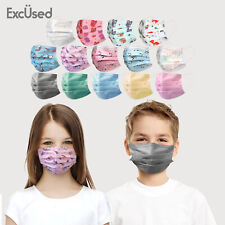 50 Pack Kids Toddler Face Mask Protect Cover Cute Stylish Children Fashion