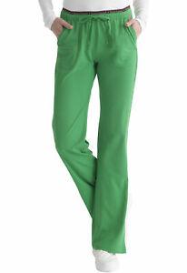 HeartSoul Scrubs 20110 Elastic Drawcord Waist Scrub Pant in Kelly Green Size XS
