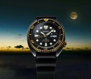 Seiko Prospex Gold Ring Black Series Ninja Turtle Watch