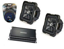 Kicker Car Audio 10 In Sub 2 Ohm Two S10L7 Subs And CX1200.1 Amplifier Amp Kit