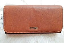 GUESS Frankee Large Brown Organizer Flap Wallet