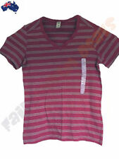 Short Sleeve Basic Tee Striped 100% Cotton T-Shirts for Women