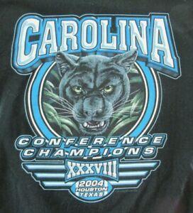 Carolina Panthers 2004 Conference Champions T-Shirt Size Child Large L/G Jerzees