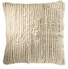 Natural Beige Recycled Cotton Jute Cushion Cover 45 x 45cm