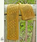 GORGEOUS LACY STREAMING LEAVES SCARFto KNIT by EUGEN K. BEUGLER FIBER TRENDS