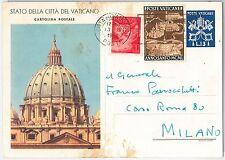 47780 -  VATICANO   - Storia Postale: INTERO POSTALE  sassone # C8