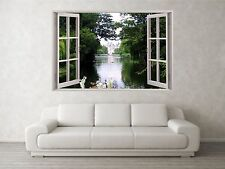 Summer Lake Scene 3D Full Colour Window Home Wall Art Stickers Mural Decal